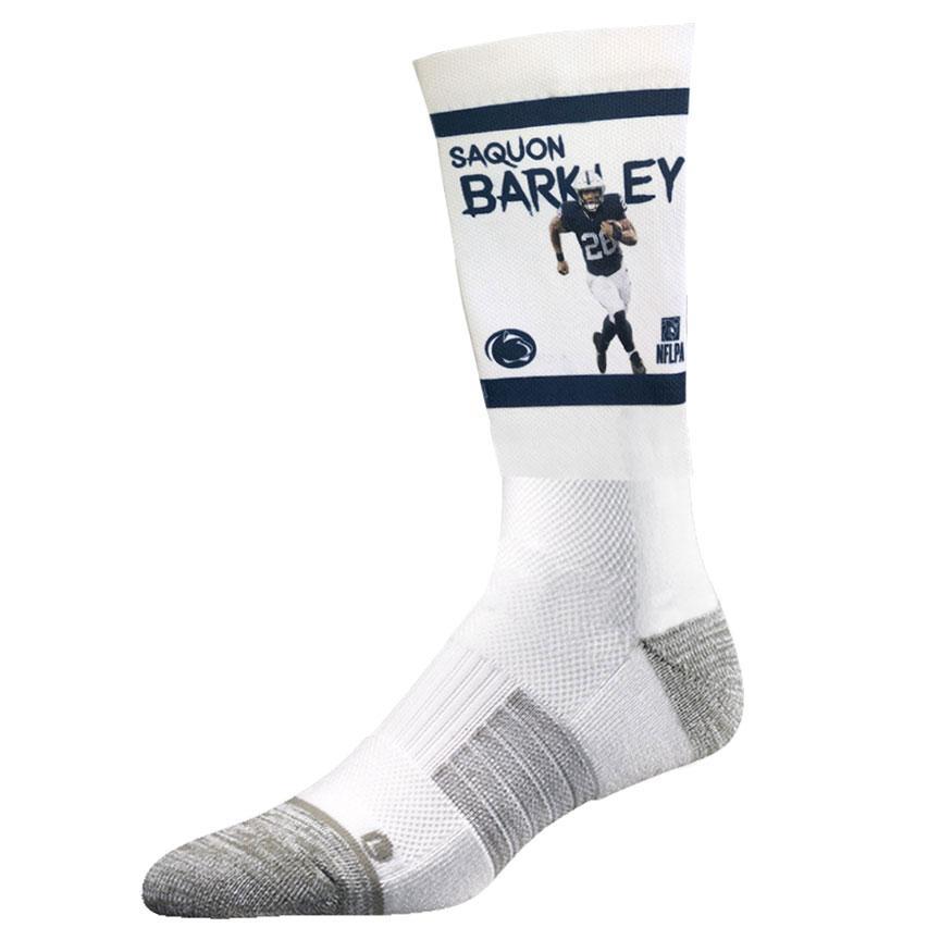 c1bc44f990a Penn State Adult Saquon Barkley Running Crew Socks Item   SOCKCRSAQUANRUN