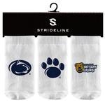 Penn State Infant Socks 3 Pack WHITE