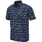 Penn State Men's Hilo Camp Dress Shirt NAVY