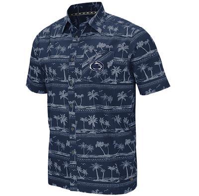 Colosseum - Penn State Men's Hilo Camp Dress Shirt