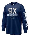 Penn State 2019 Wrestling National Champions Adult Long Sleeve NAVY