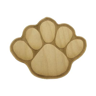 Rock Lion - Penn State Small Wood Paw Magnet