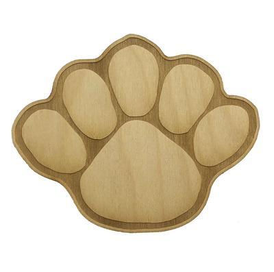 Rock Lion - Penn State Large Wood Paw Magnet