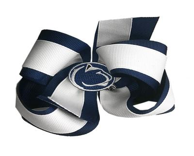 Divine Creations - Penn State Colorblock Queen Bow