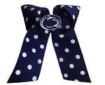 Penn State Polka Dot Cheer Bow NAVYWHITE
