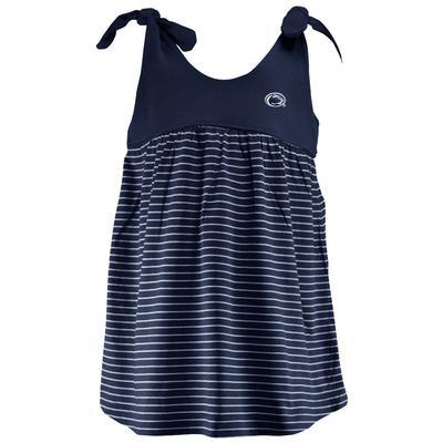 Two Feet Ahead - Penn State Toddler Stripe Sundress