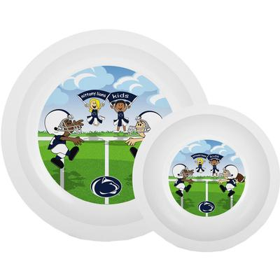 Baby Fanatic - Penn State Toddler Plate & Bowl Set