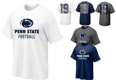 The Family Clothesline - Penn State 2019 Football Schedule T-Shirt