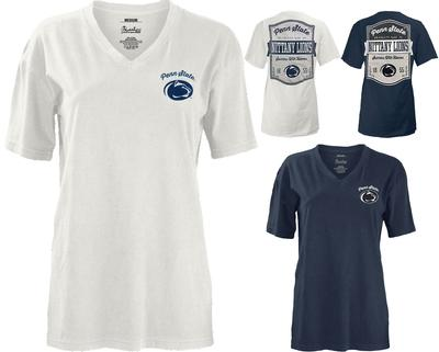Press Box - Penn State Women's Campbell V-Neck T-Shirt