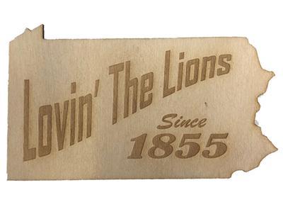 Rock Lion - Penn State Wood Lovin' the Lions Magnet