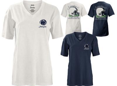 Press Box - Penn State Women's Saturday Helmet V-Neck T-Shirt