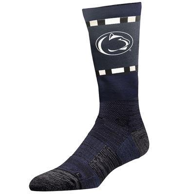 Strideline - Penn State Adult Color Block Crew Socks