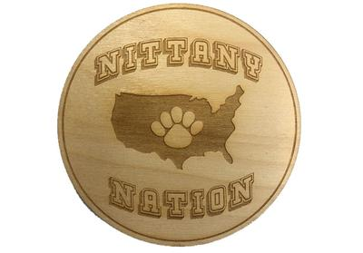 Rock Lion - Penn State Wooden Nittany Nation Magnetic Coaster