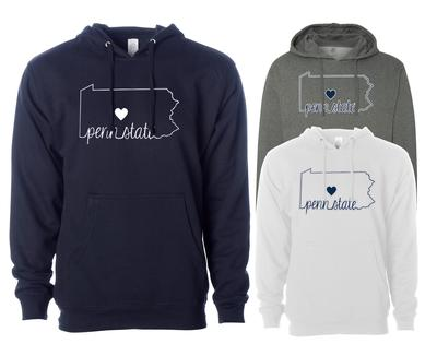 The Family Clothesline - Penn State Adult Heart State Hood