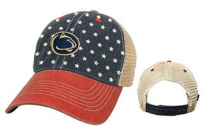 aeb28168 Penn State Adult Old Favorite 'Merica Trucker Hat Item # HAT1027346OLDFA