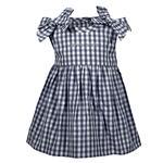 Penn State Infant Cora Gingham Dress NAVYWHITE