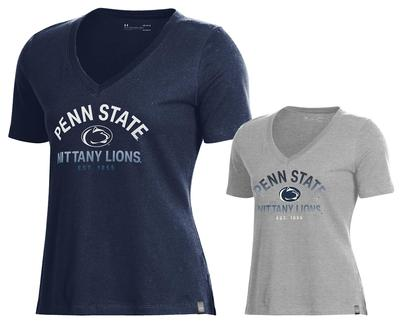 UNDER ARMOUR - Penn State Under Armour Women's Perf V-Neck T-Shirt