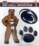 Penn State Vintage Mascot Wall Graphics Set NAVYWHITE