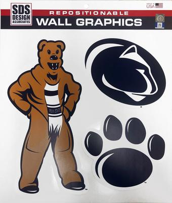 SDS Design - Penn State Vintage Mascot Wall Graphics Set
