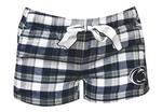 Penn State Women's Piedmont Flannel Shorts NAVYWHITE