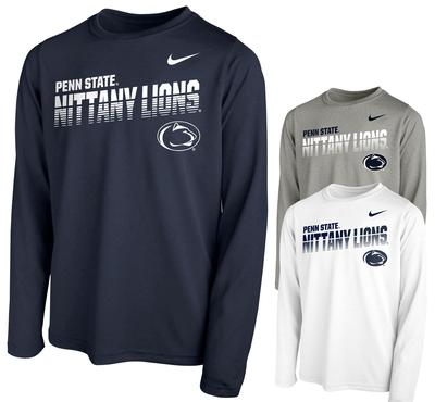 NIKE - Penn State Nike Youth Sideline 2019 Long Sleeve
