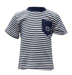 INFANT STRIPED POCKET TEE 466 NAVYWHITE