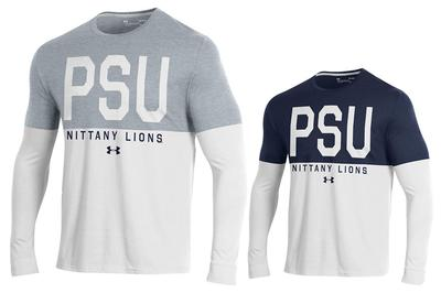 UNDER ARMOUR - Penn State Men's Under Armour Overtime Performance Long Sleeve
