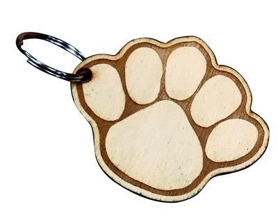 Rock Lion - Penn State Wooden Paw Keychain