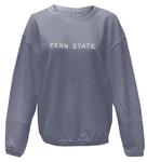 Penn State Women's Corded Embroidered Crew NAVY