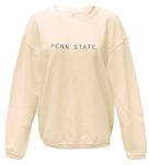 Penn State Women's Corded Embroidered Crew WHITE