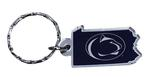 Penn State State Shape Keychain
