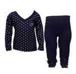 Penn State Toddler Heart Long Sleeve Pant Set NAVYWHITE