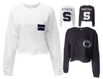 Press Box - Penn State Women's Fight Song Cropped Long Sleeve
