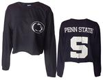 Penn State Women's Fight Song Cropped Long Sleeve NAVY