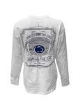 Penn State Women's Framed Football Long Sleeve WHITE