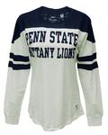Penn State Women's Halfback Long Sleeve WHITENAVY
