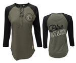 Penn State Women's True Lace Up T-Shirt GREYNAVY