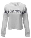 Penn State Women's Sandra Cropped Long Sleeve WHITE