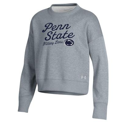 UNDER ARMOUR - Penn State Under Armour Youth Double Knit Crew Sweatshirt