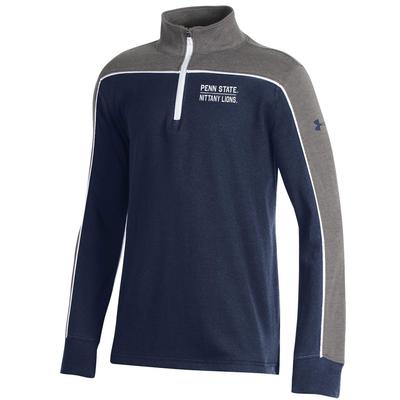 UNDER ARMOUR - Penn State Under Armour Youth Cotton Quarter Zip
