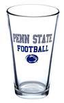 Penn State Football 16oz Pint Glass CLEAR