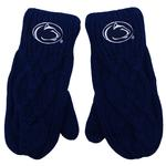 Penn State Cable Knit Mittens