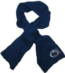 Penn State Women's Cable Knit Scarf NAVY
