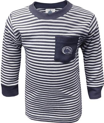 Creative Knitwear - Penn State Infant Striped Pocket Long Sleeve