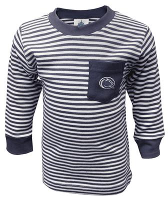 Creative Knitwear - Penn State Toddler Striped Pocket Long Sleeve