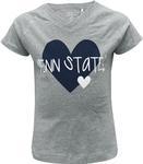 Penn State Toddler Vickie V-neck T-shirt OXFORD GREY