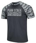 Penn State Men's Raglan T-Shirt CHARCOALDIGICAMO