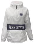 Penn State Charles River Striped Jacket WHITE