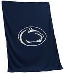 Penn State Screened Logo Blanket NAVY