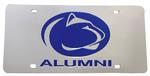 Penn State Alumni Acrylic License Plate SILVER